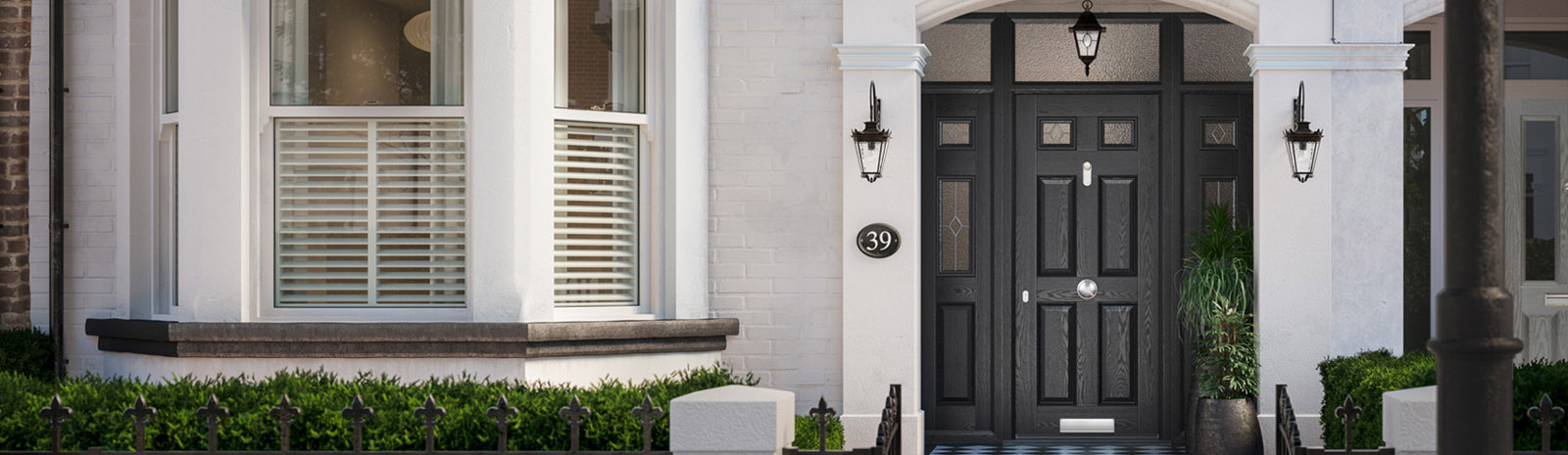 black composite door glasgow