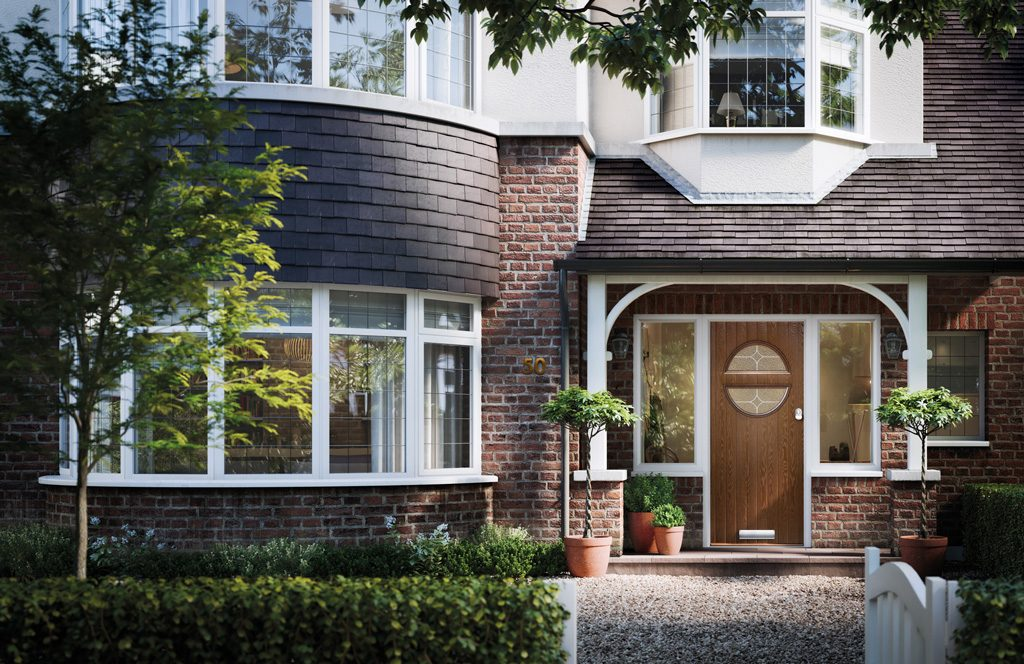 brown solid core composite doors glasgow