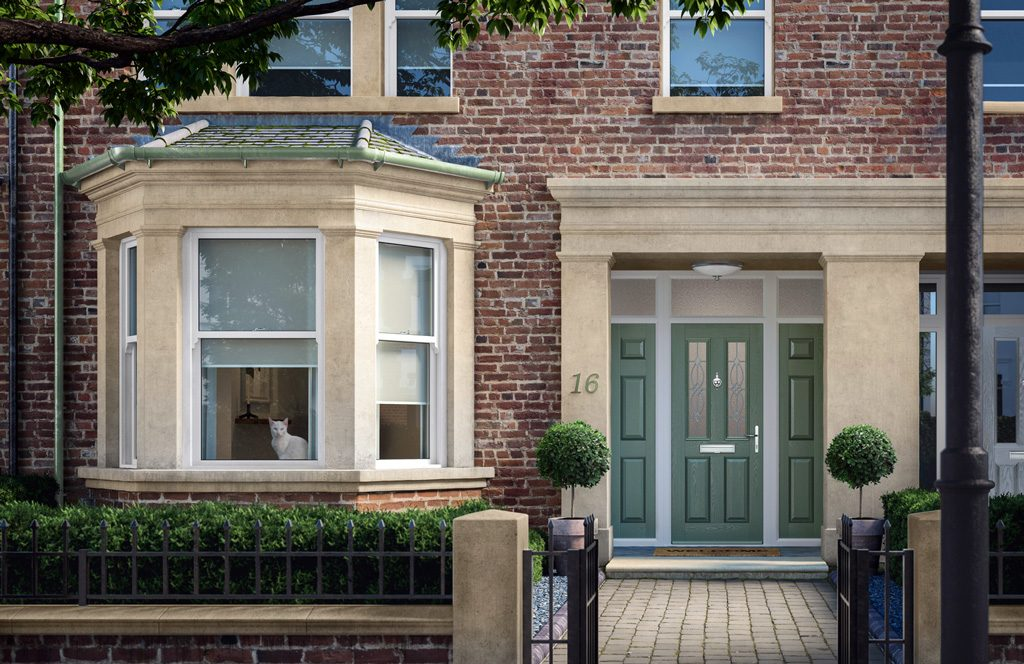green solid core composite doors glasgow